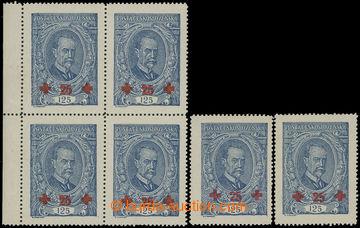 210677 -  Pof.172ST + 172I. a II. typ, TGM 125+25h modrá, krajový 4-b
