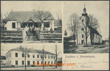 210702 - 1911 NOVÝ HROZENKOV (Hrozenkov) - třízáběrová  B/W. postcard