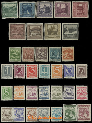 210708 - 1923-1925 Mi.433-441, 442-446, 447-467, selection of 3 sets;