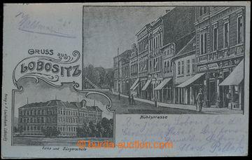 210709 - 1901 LOVOSICE (LOBOSITZ) - silver metal plastic film, street