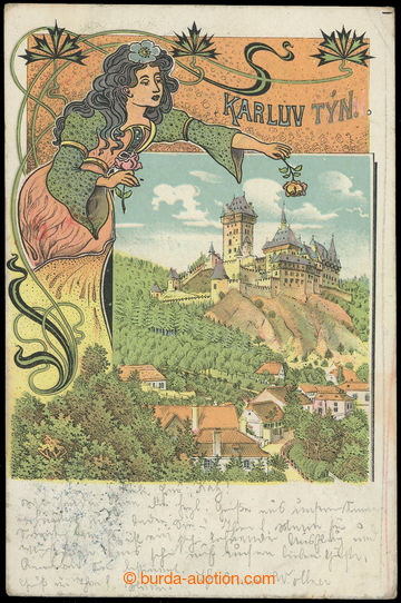 210726 - 1900 KARLŠTEJN (Karlův Týn) - jedno-záběrová se secesní výzd