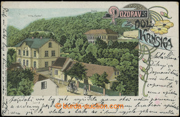 210727 - 1908 KRNSKO -  jedno-záběrová vila Herda, barevná lito,