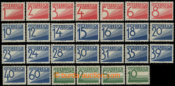 210729 - 1925 POSTAGE-DUE / Mi.132-158, complete long set, hinged, ca