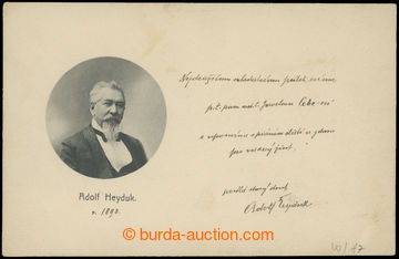 210748 - 1898 HEYDUK Adolf (1835-1923), important Czech poet and writ