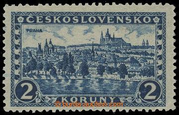 210759 - 1926 Pof.229x, Praha 2Kč modrá bez průsvitky, průsvitný