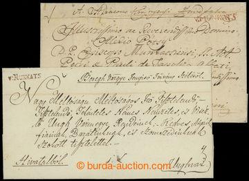 210776 - 1827-1830 V.MUNKATS  comp. of 2 folded letters to Uzhhorod,