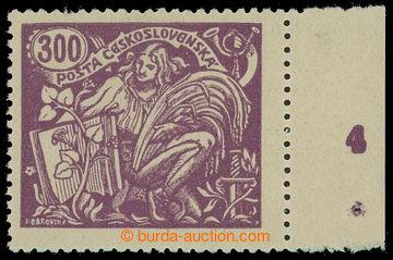 210777 -  Pof.175B, 300h fialová s DČ 4 v pravém okraji archu, III. t