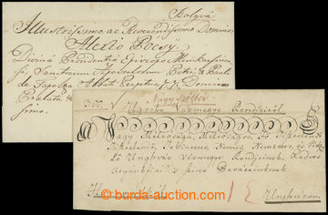 210782 - 1822-1825 NAGY SZÖLLÖS, KOLYVA  comp. of 2 pre-philatelic fo