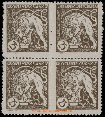 210784 -  Pof.28F, Lev trhající okovy 25h, 4-blok s ŘZ 11½; svěž