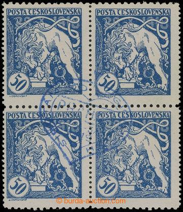210785 -  Pof.29Dp, Lev trhající okovy 50h modrá, 4-blok s ŘZ 10½