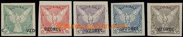 210792 - 1918 Pof.NV1, NV3-NV6, Sokol v letu 2h, 6h-30h nezoubkované