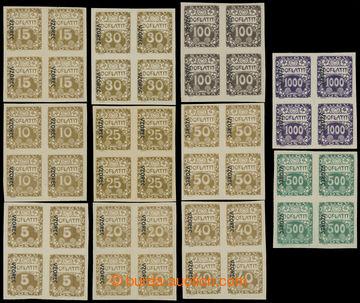 210796 - 1919 Pof.DL1vz-DL13vz, Ornament 5h - 1000h, kompletní sesta