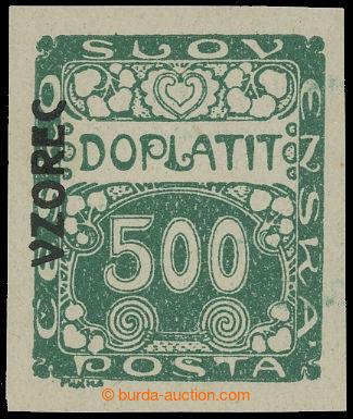 210800 - 1922 Pof.DL12vz, Ornament 500h nezoubkovaná s přetiskem VZ