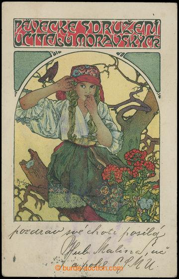 210806 - 1914 MUCHA Alfons (1860–1939), Pěvecké sdružení učitelů mora