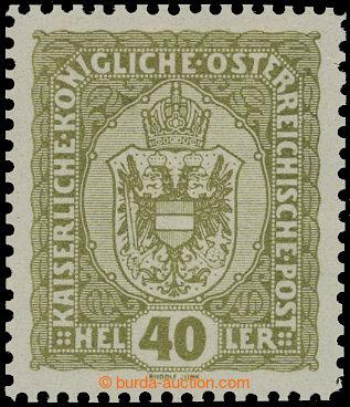 210814 - 1916-1918 VÝPLATNÍ / MALÝ FORMÁT / ANK.194P, Znak 40h hn