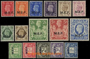 210856 - 1940 BRITSKÁ OKUPACE - SG.M11-M21, MD1-MD5, přetisky M.E.F