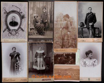 210874 - 1890-1920 [SBÍRKY]  KABINETNÍ FOTOGRAFIE sestava více jak 10