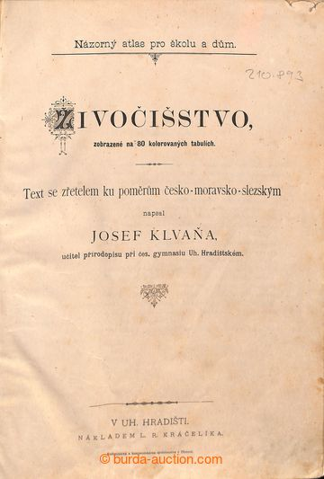 210893 - 1887 ATLAS ŽIVOČIŠSTVA - Klavaňa Josef,  živočišstvo zobraze