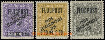 210932 -  Pof.52II-54, Airmail FLUGPOST, complete set, types I., II.,
