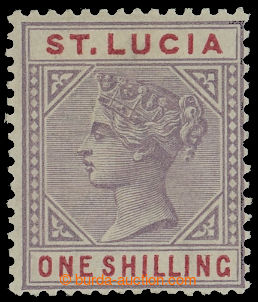 210935 - 1886 SG.42a, Viktorie 1Sh dull mauve s hledanou DV - Top lef