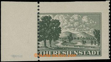 210939 - 1943 Pof.Pr1A VV, Připouštěcí známka tmavě zelená, krajový k
