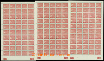 210940 - 1939 ARCHOVINA / Pof.DL1-3, hodnoty 5h, 10h a 20h v 50-ks ar