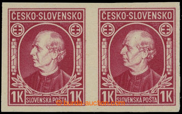 210943 - 1939 Sy.NZ24Nb, Hlinka 1Ks red CZECH REPUBLIC - SLOVAKIA, ho