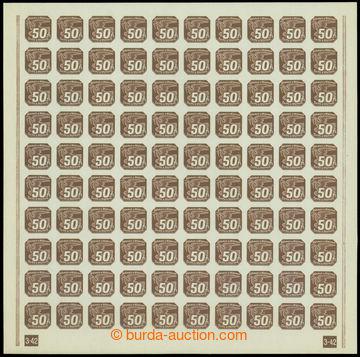 210961 - 1939 ARCHOVINA / Pof.NV8, 50h hnědá (I. vydání), celý 100ks