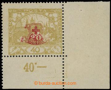 210978 -  Pof.170 VV, 40h Hradčany žlutá, dolní rohový kus s počitadl