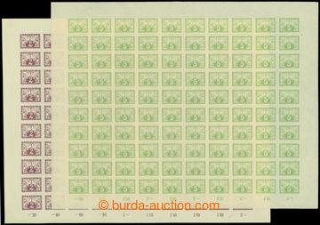210984 - 1919 ARCHOVINA / Pof.S1-S2, 2h černofialová + 5h světle zele