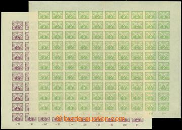 210986 - 1919 ARCHOVINA / Pof.S1-S2, Spěšné 2h černofialová + 5h