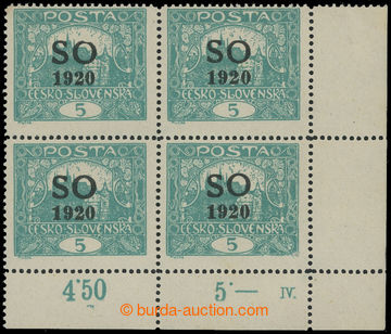 210994 -  Pof.SO3B, Hradčany 5h blue-green, line perforation 13 &#190