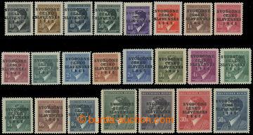 211004 - 1945 PRAHA - VOKOVICE černý přetisk SVOBODNÉ / ČESKO / SLOVE