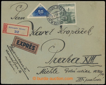 211022 - 1939 R+Ex-dopis zaslaný do VLASTNÍCH RUKOU, vyfr. předběžnou