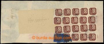 211031 - 1943 VLÁDNÍ VOJSKO / celý rukáv přebalu balíku 245ks n
