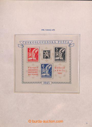 211045 - 1945-1975 [SBÍRKY]  GENERÁLNÍ / sbírka na zasklených listech