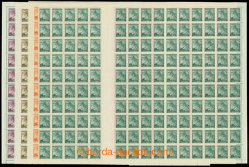 211052 - 1939 COUNTER SHEET /  Pof.20-27, Linden Leaves 5h blue - 50h
