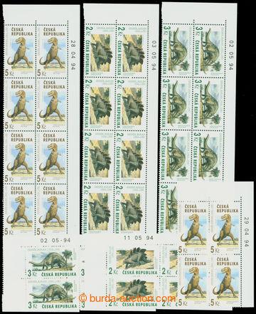 211056 - 1994 Pof.42-44, Veleještěři, kompletní série tří krajových 1