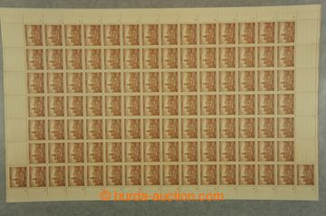 211059 - 1939 COUNTER SHEET / Pof.32-40, Towns the first issue., almo