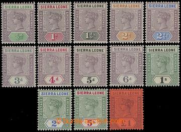 211143 - 1890 SG.41-53, Viktorie 1/2P-1£; kompletní série v mimo