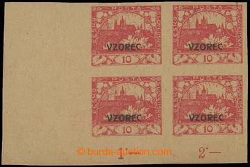 211196 -  ZT  hodnoty 10h červená s přetiskem VZOREC, levý dolní roho