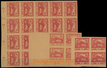 211198 -  ZT  hodnoty 10h červená, sestava 3ks bloků s DV - hodiny ve
