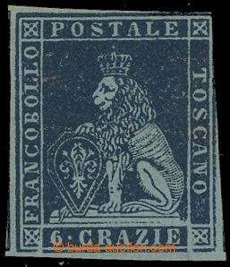 211243 - 1851-1855 Sass.7a, Lev 6Gr s původním lepem, obvyklý tosk