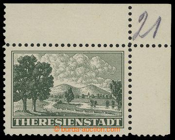 211246 - 1943 Pof.Pr1A, Připouštěcí známka tmavě zelená s ŘZ 10½