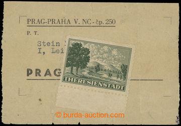211275 - 1943 Pof.Pr1A, Připouštěcí známka tmavě zelená, ŘZ 10½