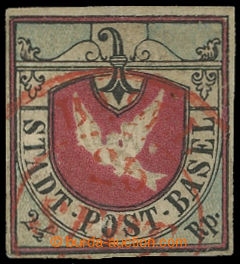 211280 - 1845 BASEL / Mi.1III, Basilejská holubice 2½Rp s hledan