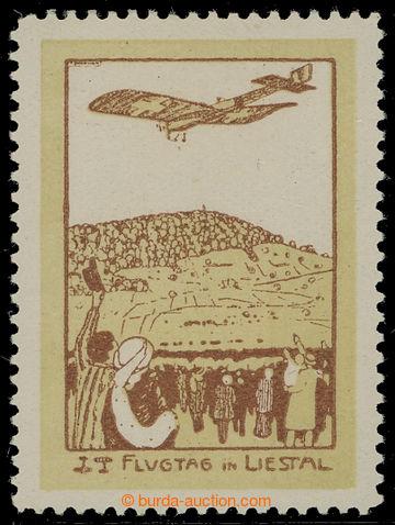 211282 - 1913 Mi.VIII, Letecká Liestal-Rheinfelden 50C; po nálepce, v