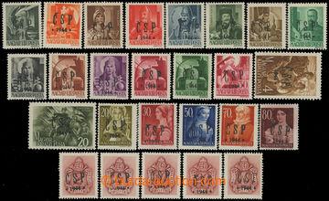 211290 - 1944 CHUSTSKÝ PŘETISK / Pof.RV174-186, RV189-192, RV194, RV1