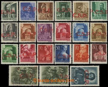211295 - 1945 RIMAVSKÁ SOBOTA  červený přetisk Č.S.P. na maďarských z