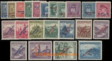 211296 - 1939 Sy.1-22, Přetisková emise 5h - 10Kč; kompletní série, 1